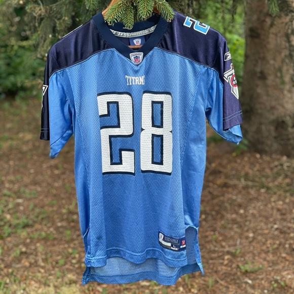 Vintage Reebok Chris Johnson Titans jersey